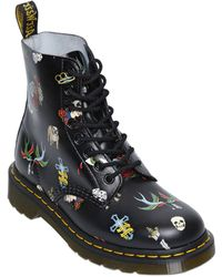 Dr. Martens 30Mm Tattoo Printed Leather Boots - Lyst