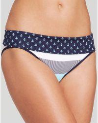 Tommy Bahama Bold Stripe  Mini Anchor Reversible Hipster Swim Bottom - Lyst