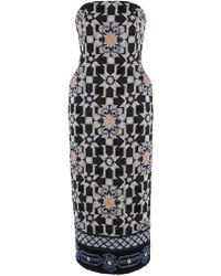 Temperley London Merida Tile Strapless Dress - Lyst