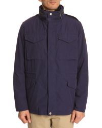Gant M65 Navy Cotton Parka - Lyst