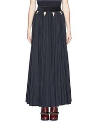 Givenchy Triangle Cutout Pleat Maxi Skirt - Lyst