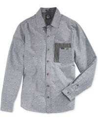 Volcom Chambro Printed Chambray Shirt - Lyst