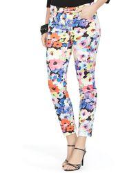 Ralph Lauren Floral Skinny Ankle Pant - Lyst
