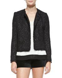 Joie Calimesa Shimmery Tweed Fringe Jacket - Lyst