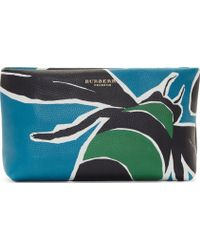 Burberry Prorsum - Blue And Green Inset Clutch - Lyst