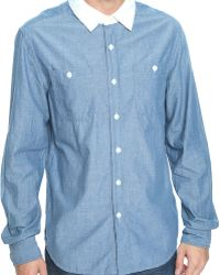 Forever 21 - Contrast Collar Shirt - Lyst