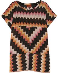 Missoni Metallic Crochetknit Mini Dress - Lyst