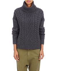 Nili Lotan Cable-knit Turtleneck Sweater - Lyst