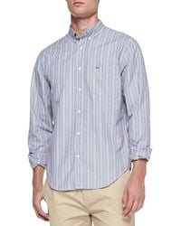 Lacoste Button-down-collar Striped Shirt - Lyst