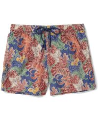 Façonnable - Mid-Length Printed Swim Shorts - Lyst