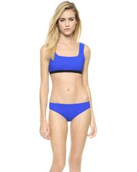 T By Alexander Wang Two Tone Bonded Bikini Top  - Lyst