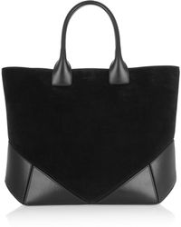 Givenchy Easy Tote in Black Suede and Leather - Lyst