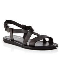 Ferragamo Nostro Leather Sandals - Lyst