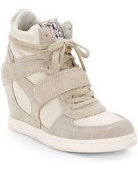Ash Cool Suede Lace-up Wedge Sneakers - Lyst
