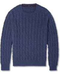 Gucci Cable Knit Crew Neck Sweater - Lyst