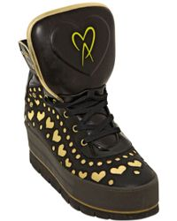 Manish Arora 70mm Laser Cut Hearts High Top Sneakers - Lyst