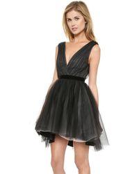 Alice + Olivia Alice  Olivia Princess Pouf Dress - Black - Lyst