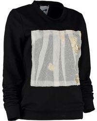 By Sun - Gold Silk Pleating Sweatshirt - Lyst
