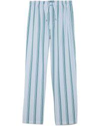 Calvin Klein Blue Pj Pants - Lyst