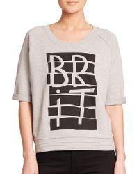 Burberry Brit Short-Sleeve Graphic Sweatshirt gray - Lyst