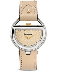 Ferragamo Stainless Steel Champagne Dial Watch, 37Mm - Lyst