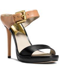 MICHAEL Michael Kors Mule Sandals - Beverly Buckled Colorblock - Lyst