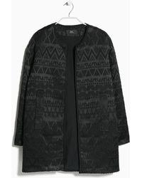 Mango Textured Jacket - Lyst