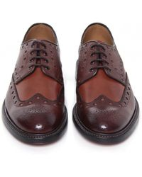 Oliver Sweeney Hasketon Mix Leather Brogues - Lyst
