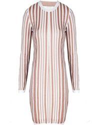 O'2nd Stripe Jumper Dress - Lyst