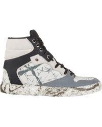 Balenciaga Multi-Material Marble Sneakers - Lyst