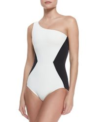 Marc By Marc Jacobs One-shoulder Maillot - Lyst