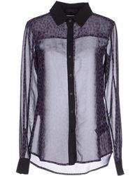 Karl Lagerfeld Shirt purple - Lyst