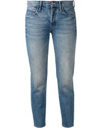 Mother Vintage Wash Cropped Jeans - Lyst