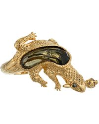 Alexander McQueen Gold Salamander Ring - Lyst