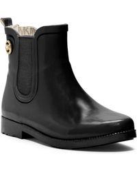 Michael Kors Short Rubber Rain Boot - Lyst