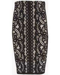 Lover Libra Japanese Lace Pencil Skirt - Lyst