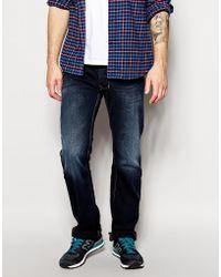 Diesel Jeans Larkee Straight Fit 837K Dark Wash - Lyst