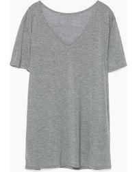Zara Extra Long T-Shirt - Lyst