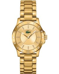 Lacoste Women'S Madeira Gold Ion-Plated Stainless Steel Bracelet Watch 32Mm 2000850 - Lyst