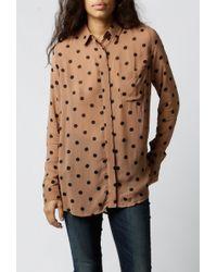 Ganni | Seymour Polka Dots Shirt | Lyst
