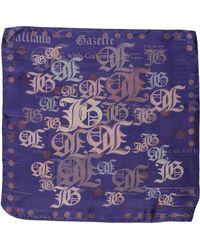 John Galliano Purple Square Scarf - Lyst