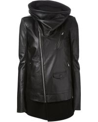 Rick Owens Funnel Neck Coat - Lyst
