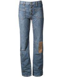 Saint Laurent Patchwork Jeans - Lyst