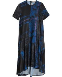 Preen By Thornton Bregazzi Bramble Ss Printed Silk Dress - Lyst