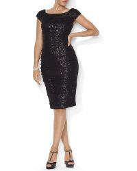 Ralph Lauren Lauren Dress  Sequin Mesh - Lyst