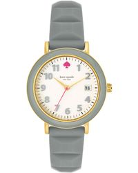 Kate Spade Womens Metro Gray Silicone Strap Watch 36mm - Lyst