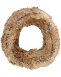 Barneys New York Beige Fur Cowl - Lyst