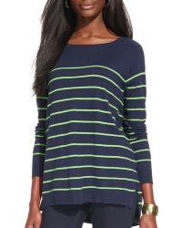 Ralph Lauren Lauren Raglan Sleeve Stripe Sweater - Lyst