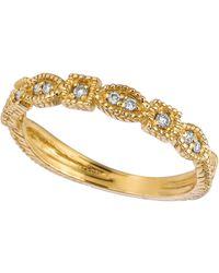Morris & David - Diamond Ring In 14 Kt. Yellow Gold - Lyst