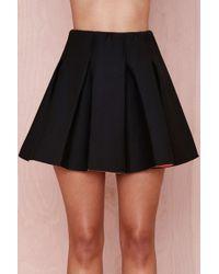 Nasty Gal Bonding Time Scuba Skirt - Black - Lyst